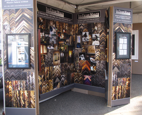 "The Frame Maker ""showroom"" booth"