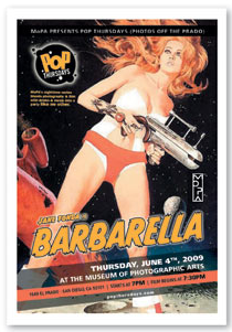 Barbarella at theMuseum of Photographic Arts, Balboa Park
