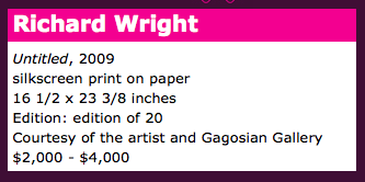 Richard Wright catalog entry for 2010 MCASD Art Auction